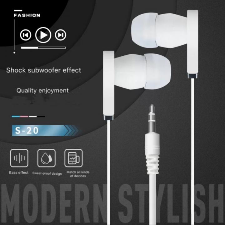 SL In-Ear Headphone Earphones  For Mobile pink