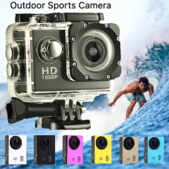 Camera Outdoor Camera 30M waterproof Multifunction Sports Mini DV Digital Camera Aerial Photography white one size