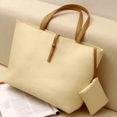 SL Handbags Large Capacity Handbag Fashion Buckle Shoulder bag white one size