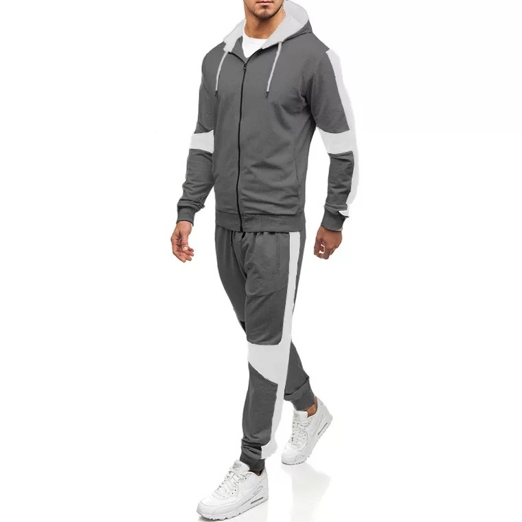 4f1c23bbba SL Men s Sports Suits Leisure Color Patchwork Style Long Sleeve ...