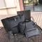 SL Women's Handbag Luxury 4 Pcs/Set Handbag+Shoulder Bag+ Cellphone Bag +Card Bag Fashion Classic black one size