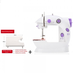 Creative Home Mini Manual Small Sewing Machine Portable Mini Hand Sewing Machine Tool Random Color white+purple