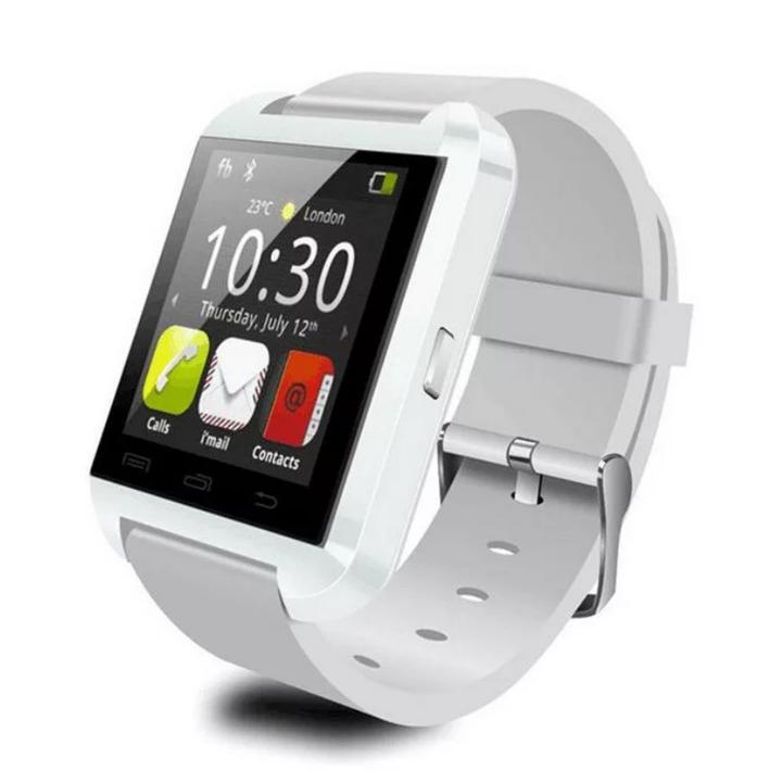 U8 Bluetooth Smart Watch Sport Wristwatch Smartwatch IOS Android iPhone Samsung Infinix Camera white one size
