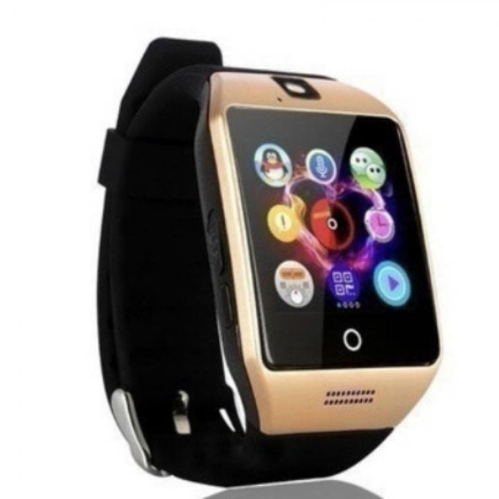 Bluetooth Smart Watch Sports WristWatch Smartwatch IOS Android iPhone Samsung Infinix Clock Camera golden one size