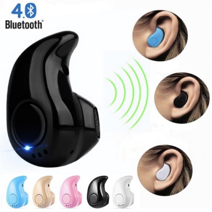 Bluetooth Wireless Earphone Headphone Wireless Sports Portable Mini Music Player with Speaker white