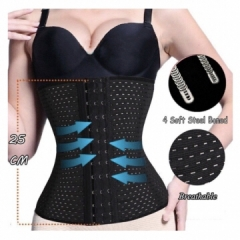 Elastic Waistband Girdle Body Shaper Women Waist Trainer Slimming Corset Belt Postpartum black S-M