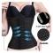 Elastic Waistband Girdle Body Shaper Women Waist Trainer Slimming Corset Belt Postpartum black L-XL