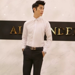 White Shirts For Men Fashion Classic Business Casual Style Well Matched Long Sleeve white m