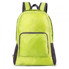 Fashion Backpack Schoolbag Bookbag 5 colors Waterproof Fabric Foldable PortableBag Men WomenChildren green one size