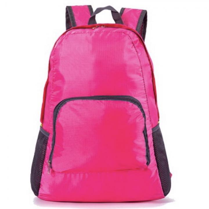 Fashion Backpack Schoolbag Bookbag 5 colors Waterproof Fabric Foldable PortableBag Men WomenChildren pink one size