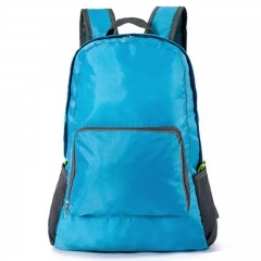 Fashion Backpack Schoolbag Bookbag 5 colors Waterproof Fabric Foldable PortableBag Men WomenChildren b blue one size