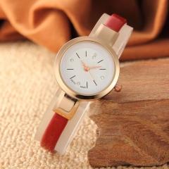 Fashion Wrist Watch Women Simple Fashion Design Round Dial Fine Watch Band Wristwatch red