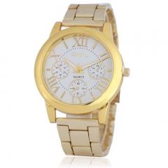 Fashion Wrist Watch Men Women Luxury Quartz Stainless Steel Wristwatches Lovers Couples Gift white one size