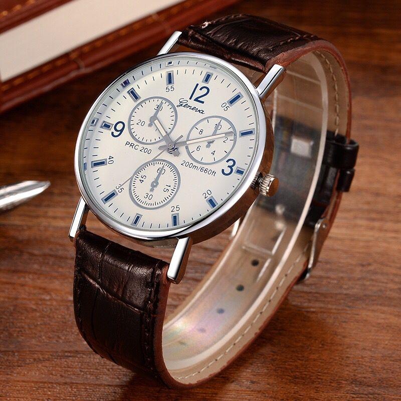 Men Women Fashion Wrist Watch Classic Casual Style Wristwatch Quartz Watch white one size 27