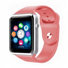 A1 Smart Watches SIM/TF Bluetooth Sport WristWatch Smartwatch with Camera Android Phone Infinix pink one size
