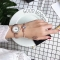 2 pcs Set Fashion Wrist Watch Wristwatch Jewelry High End Shiny Rhinestone Synthetic Diamond rose gold