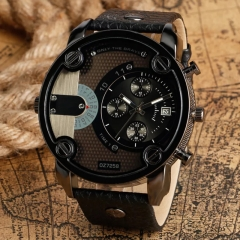 Men's Fashion Wrist Watch Fashion Casual Creative Outlook Sports Wristwatch Quartz Watch black one size