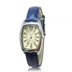 Fashion Wrist Watch Wristwatch For Women Square Dial Leather Watchband b blue