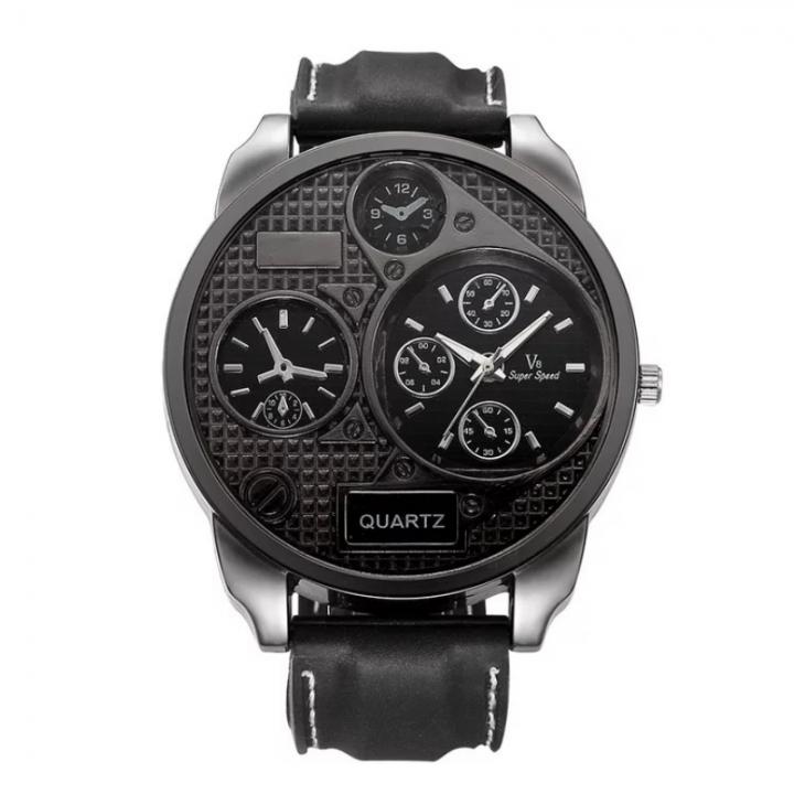 Men's Fashion Wrist Watch Fashion Casual Sport Wristwatch Quartz Digital Watch Army Military Watch black one size