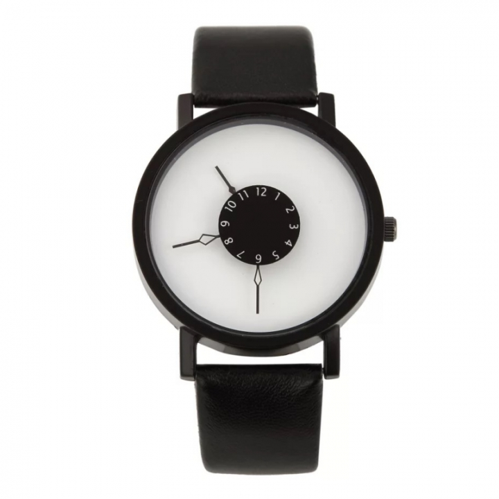 Fashion Wrist Watch Men Women Casual Simple Style Round Dial Couples Lovers Quartz Wristwatches black and white