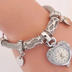 Fashion Wrist Watch Women Rhinestone Shiny Diamend  Bracelet Jewelry Jewellery Wristwatches For Lady silver