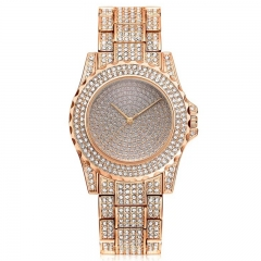 Women Fashion Wrist Watch Rhinestone Diamond Wristwatches Ladies Classic Luxury Quartz Watches rose gold