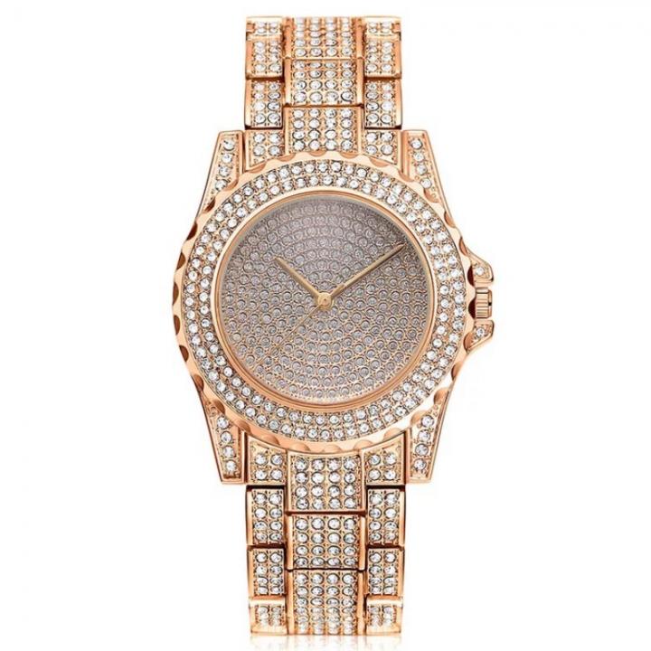 Women Fashion Wrist Watch Rhinestone Diamond Wristwatches Ladies Classic Luxury Quartz Watches rose gold