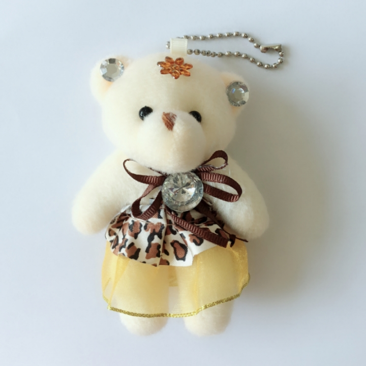 Cute Teddy Bear Exquisite Small Pendants Lovely Accessories Trinket  For Women Handbags Schoolbags