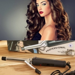 Fashion Electric Hair Roller Curling Iron Curling Bar Thermostat curlers stainless Steel Hair Rods black as picture one size