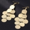 New Fashion Jewelry Rock Rounds Tassel Earrings Women Jewellery Party Wedding gold as picture one size