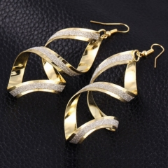 New Fashion Jewelry Rock Uique Earrings Women Jewellery Party Wedding gold as picture one size