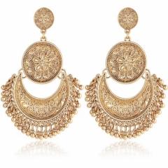 Earrings Fashion Bohemian Style Drop Earrings Retro Vintage Tassel Earrings For Women Jewellery Gift gold one size