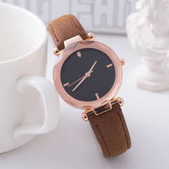 JUSHIKE Brand Fashion Wrist Watch Women Simple Fashion Design Round Dial Wristwatch brown