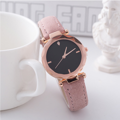 JUSHIKE Brand Fashion Wrist Watch Women Simple Fashion Design Round Dial Wristwatch pink