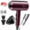 Hairdryer 2200W 7 Pcs Set Professional Electric Hair Dryer For Salon and Household Use Anion wine red one size