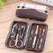 Nail Clippers 7 Pcs Set Professional Stainless Steel Fingle Cuticle Clippers kit  with Travel Case one color as picture