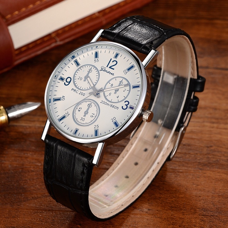 Men Women Fashion Wrist Watch Classic Casual Style Wristwatch Quartz Watch white one size 28