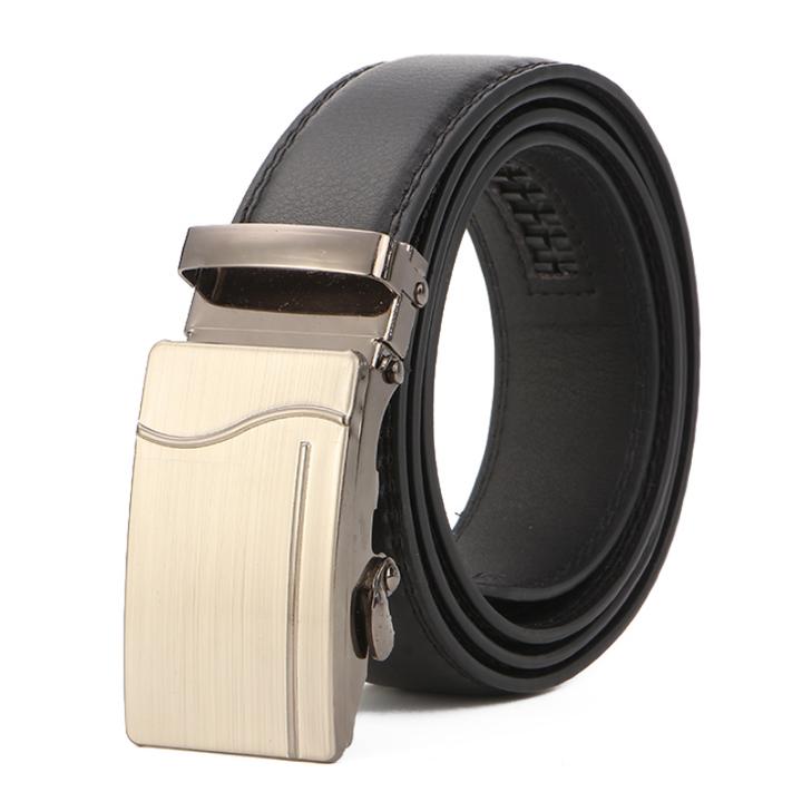 Men's Leather Belt Business Jeans Belt Fashion Buckle Genuine Cowhide Leather Belt 4 110cm