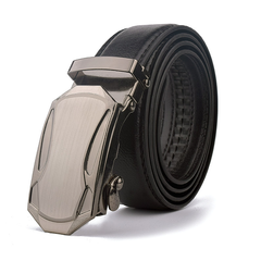 Men's Leather Belt Business Jeans Belt Fashion Buckle Genuine Cowhide Leather Belt 1 110cm