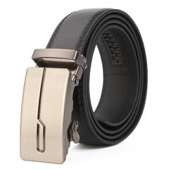 Men's Leather Belt Business Jeans Belt Fashion Buckle Genuine Cowhide Leather Belt 9 110cm