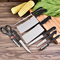8 Pcs Set Kitchen Knives Stainless Steel Knives Multifunctional Cutter For Meat Vegetables Fruit black and silver as picture one size