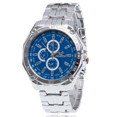 Fashion Wrist Watch Men Male Luxury Quartz Stainless Steel Wristwatches Gentlemen Valentines Gift blue one size
