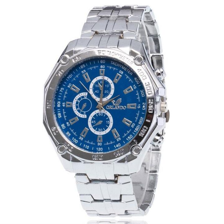 Fashion Wrist Watch Men Male Luxury Quartz Stainless Steel Wristwatches Gentlemen Valentines Gift blue one size