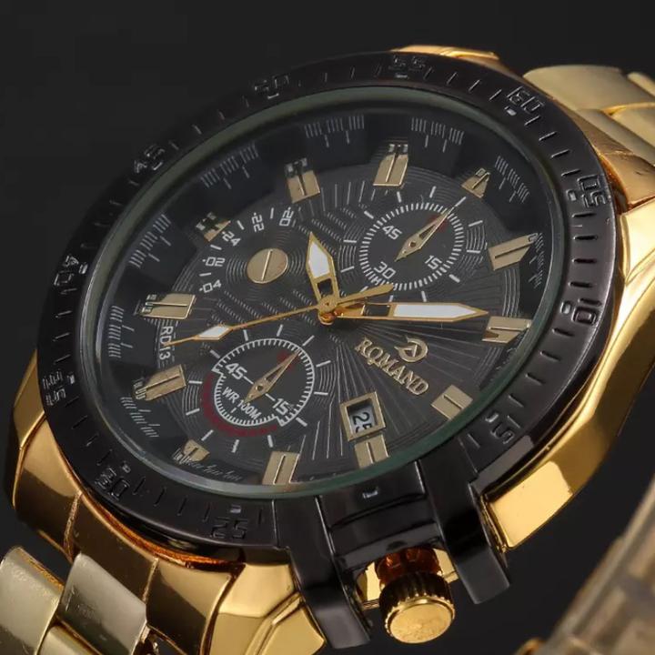 Fashion Wrist Watch Luxury Quartz Stainless Steel Wristwatches For Men Valentines Gift black one size