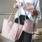 SL Handbag Fashion Women's Bag Purse Ladies PU Leather Crossbody Bag 4Pcs/Set pink one size