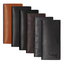 Wallet for Men PU Leather Long Business Casual Style Multilayer Card Set Large Capacity Bag black as picture one size