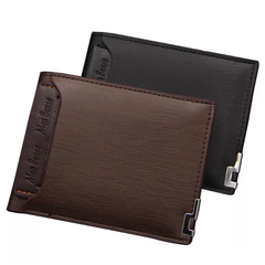Wallet for Men PU Leather Short High Quality Classic Business Casual Style Multilayer Card Set Bag dark brown one size