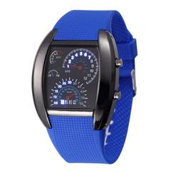 Fashion Smart Watch LED Wrist Watch Digital Creative Dashboard Sport Wristwatch For Men Women dark blue one size