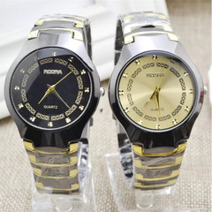 Fashion Wrist Watch Men Women Business Casual Style Wristwatch  Quartz Stainless Steel Lovers Gift black one size