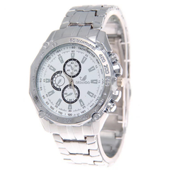Fashion Wrist Watch Men Male Luxury Quartz Stainless Steel Wristwatches Gentlemen Valentines Gift white one size